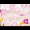Banner Happy Birthday - lichtroze - 15x175cm