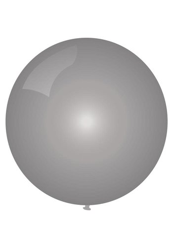 Mega Ballon Metallic Zilver - 90cm - 1 stuk
