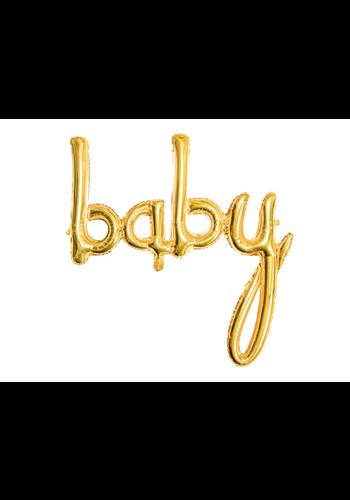 """Folieballon """"BABY"""" goud - voor luchtvulling - 73.5 x 75.5 cm"""