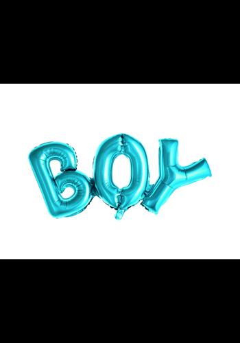 "Folieballon ""BOY"" blauw - 67x29cm"