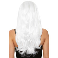 thumb-Long wavy wig - White-2