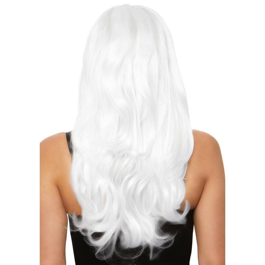 Long wavy wig - White-2