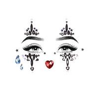 thumb-Sticker met gezichtssieraden van Harlekijn-2