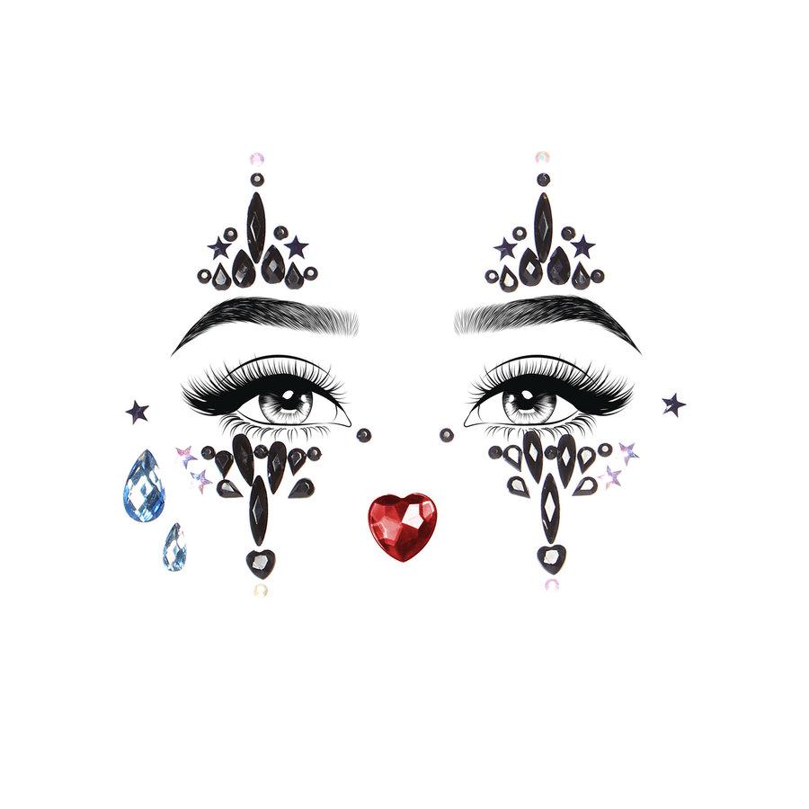 Sticker met gezichtssieraden van Harlekijn-2