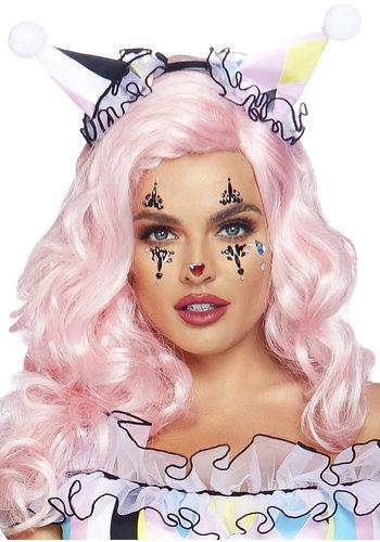 Sticker met gezichtssieraden van Harlekijn