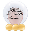 Qualatex Bedrukte Ballon - Bride to Be (naam)