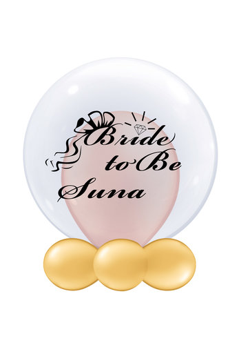 Bedrukte Ballon - Bride to Be (naam)