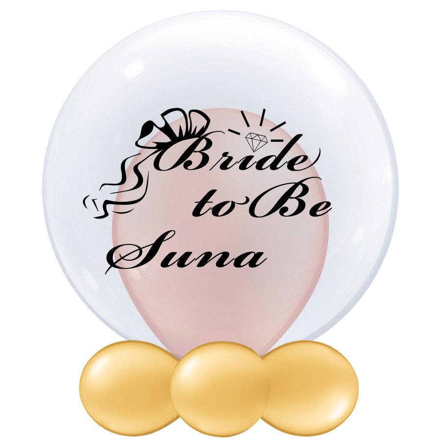 Bedrukte Ballon - Bride to Be (naam)-1