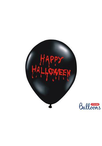 Ballonnen Happy Halloween - 30cm - Zwart
