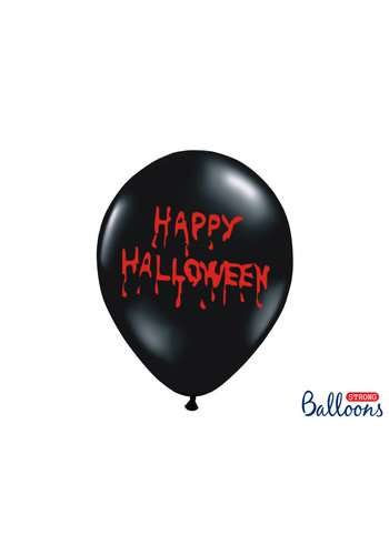 Heliumballon Happy Halloween - 30cm - Zwart