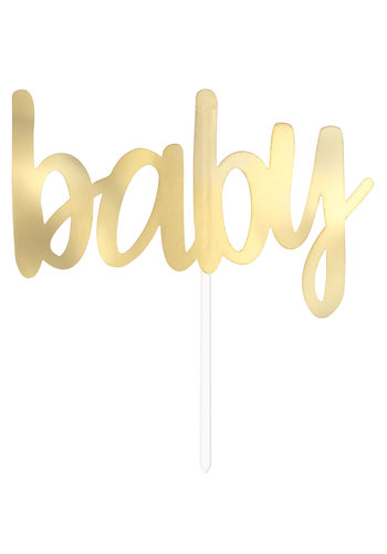 "Cake Topper Gold ""Baby"""