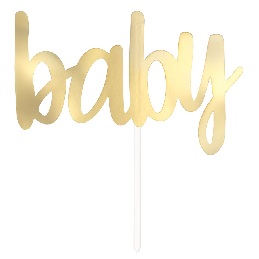 """Cake Topper Gold """"Baby""""-1"""