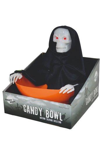 Trick or Treat Candy Bowl Reaper - 23X25X25CM - incl bat