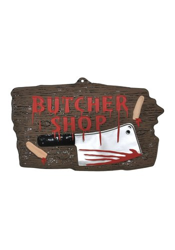 Uithangbord Butcher Shop - 47cm