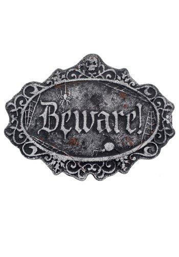 Grafsteen Beware - 46x34x2cm