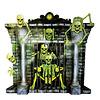 Plastic Poster Openhaard Skeletten - 100x90cm