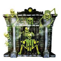 Plastic Poster Openhaard Skeletten