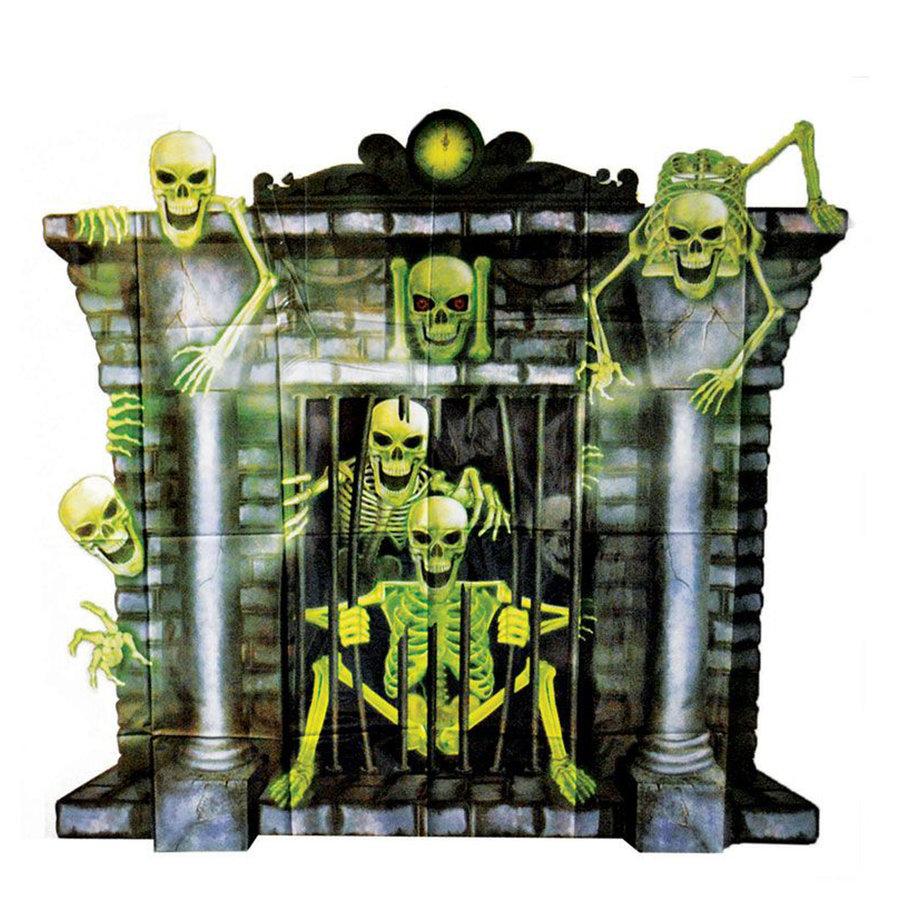 Plastic Poster Openhaard Skeletten-1