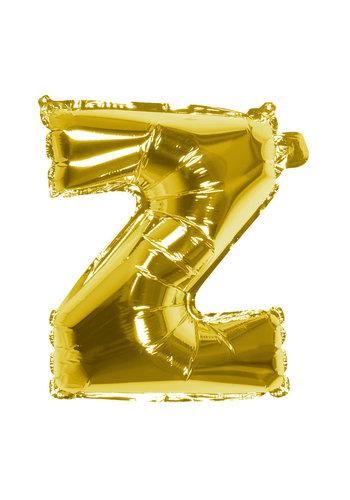 Folieballon Z goud - lucht gevuld - 36 cm