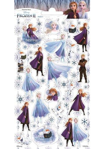 Stickers Frozen Glitter - 2 stuks