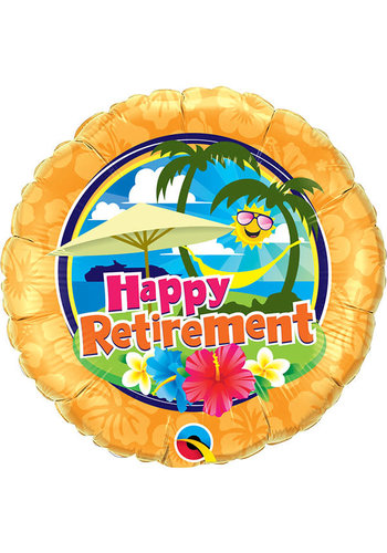 Folieballon Happy Retirement Sunshine - 45cm