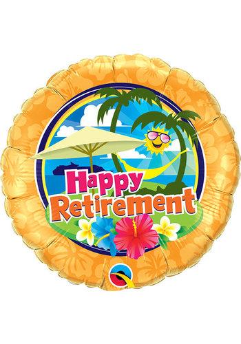 Folieballon Happy Retirement Sunshine