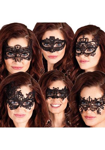 Oogmasker Masquerade - 6 stylen