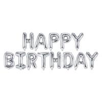 thumb-Folieballon Happy Birthday - Zilver-2