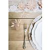 Decoratietakjes met bladeren - poederroze