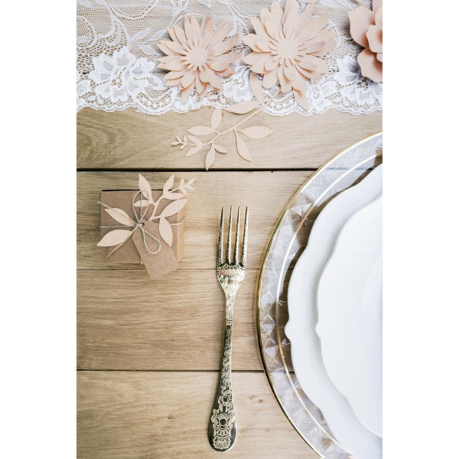 Decoratietakjes met bladeren - poederroze-1
