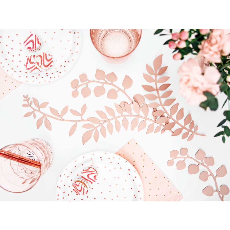 Decoratietakjes met bladeren - poederroze-4