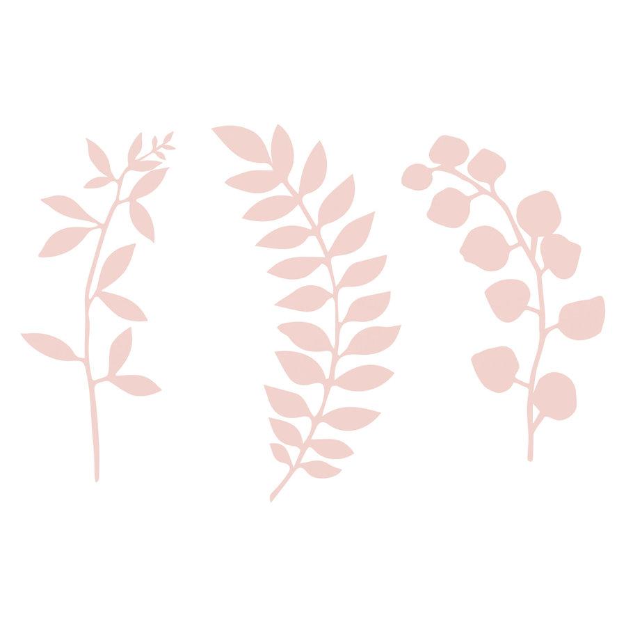 Decoratietakjes met bladeren - poederroze-5
