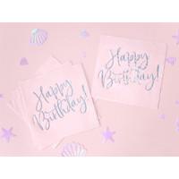thumb-Servetten Happy Birthday Poederroze-1