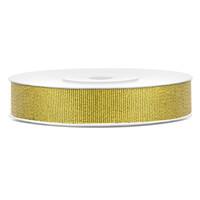 Glitter lint - goud - 10mm/25m