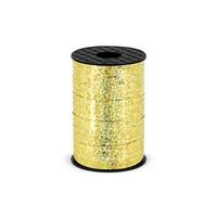 Holografisch glitter lint - goud - 5 mm / 225 m