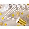 Papieren rietjes - gouden sterren - 19,5 cm