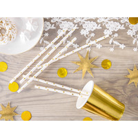 thumb-Papieren rietjes - gouden sterren - 19,5 cm-1