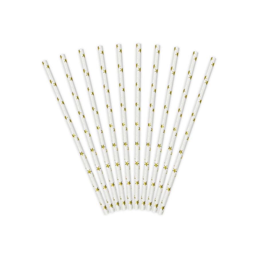 Papieren rietjes - gouden sterren - 19,5 cm-2
