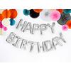 Folieballon Happy Birthday - Zilver