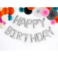 thumb-Folieballon Happy Birthday - Zilver-1