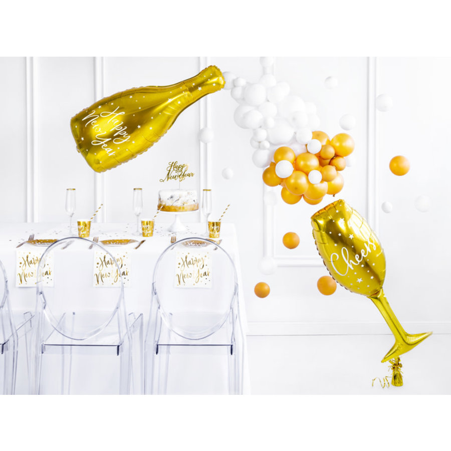 Folieballon Champagne Fles-3