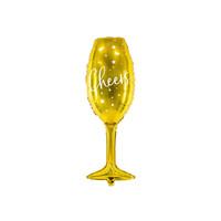 thumb-Folieballon Champagne Glas-2