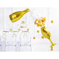 thumb-Folieballon Champagne Glas-3