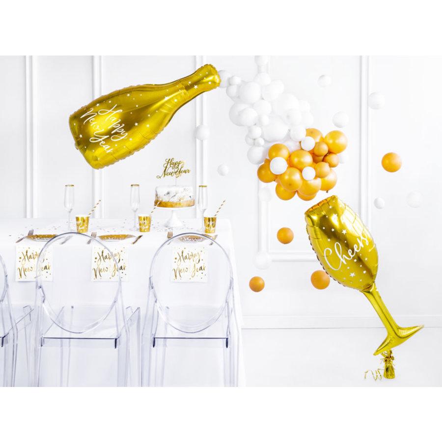 Folieballon Champagne Glas-3