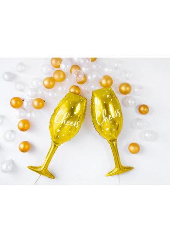 Folieballon Champagne Glas