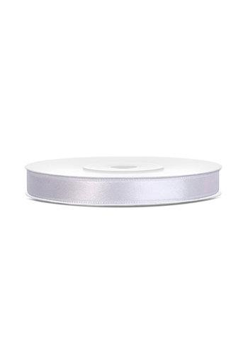 Satijn Lint Wit - 6 mm x 25 mtr