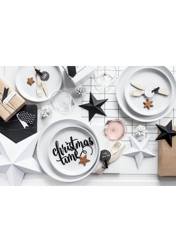 Decoratie Christmas Time - zwart