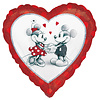 Folieballon Mickey & Minnie Love - 45cm