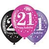 Ballonnen 21 Sparkling Celebration Pink&Black