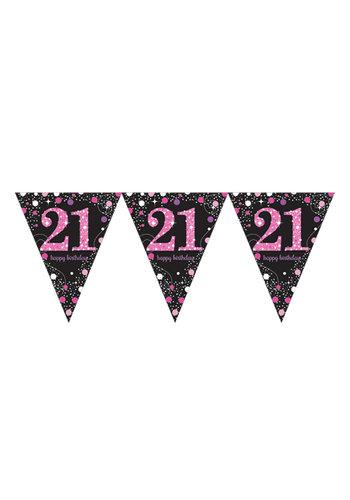 Vlaggenlijn 21 Sparkling Celebration Pink&Black